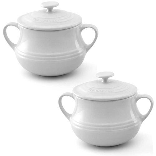 Jogo-com-2-sopeiras-branca-em-ceramica-com-tampa-Le-Creuset---9100110001